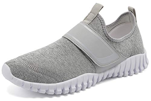 KEESKY Women's Water Hiking Shoes - Barefoot Shoes Wide Width Grey Size 9.5