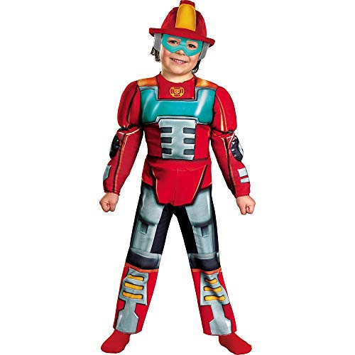 Boy's Transformers Heatwave Rescue Bots Toddler Muscle Costume, 3T-4T (Toys Boys Transformers)