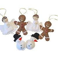 DouDou kit de esferas de fieltro Angel, muñeco de nieve y galleta de jengibre