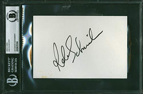 Rob Schneider Deuce Bigelow SNL Signed 4x6 Index Card Beckett BAS Slabbed - Beckett Authentication