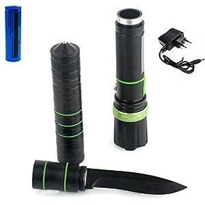Taktische Taschenlampe Messer - JULI Multifunktionale Selbstverteidigung...