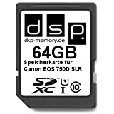 DSP Memory Z-4051557430594 64GB Ultra High Speed Speicherkarte für Canon EOS 750D SLR Digital Kamera