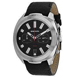 Diesel Mens Chronograph Quartz Watch with Leather Strap DZ4499