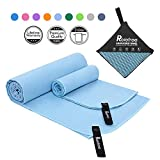 Relefree Microfibre Towel Quick Dry Towels Travel Towels Set of 2 Piece for Swimming Pool Camping Gym Sports Yoga and Pilates etc