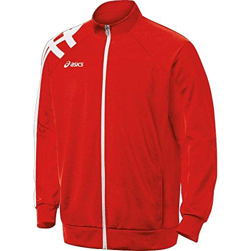 ASICS Men's Team Tiger Jacket (Red), Large