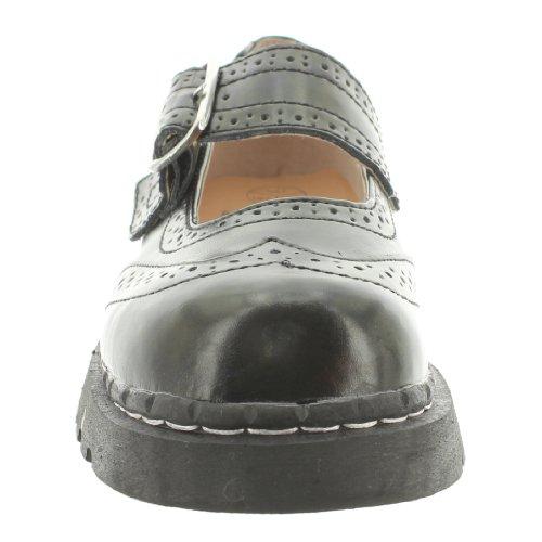 T.U.K. Mary Jane Sneaker LEATHER BROGUE T1002 black 36
