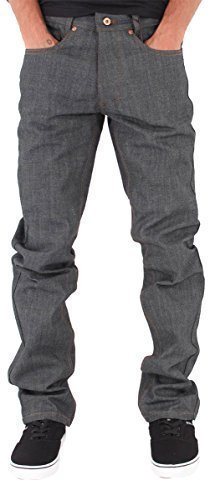 Rocawear Mens Boys Double R Star Relaxed Fit Hip Hop Jeans Is Money G Time RJPN (W38 - L34, Raw (Rocawear 5 Pocket Jeans)