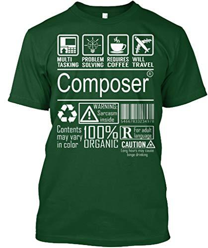 (Composer 100 Organic 3XL - Deep Forest Tshirt - Hanes Tagless Tee)