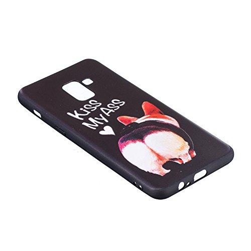 018 Galaxy Anti Tpu Lindring 2 Beskyttende Samsung Slank Tilfelle Gel Gris Pluss Silikonveske riper Malt A8 Euwly Mønster 3d Tilfelle Støtfanger dFqUwII