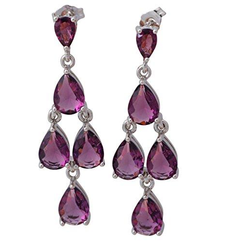 fonk: designer Amethyst earrings Purple Topaz earrings 925 Sterling Silver Overlay dangle earrings 17