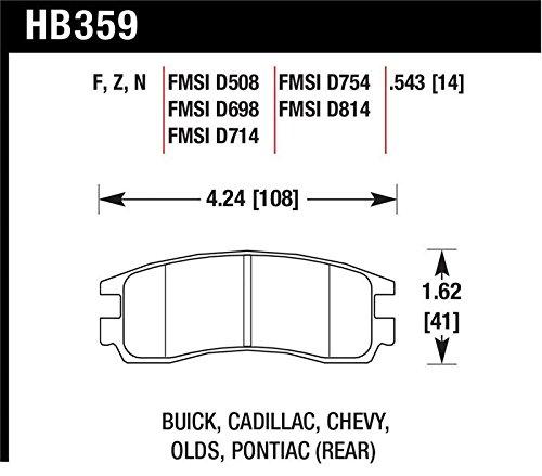 Hawk Performance HB359Z.543 Performance Ceramic Disc Brake Pad