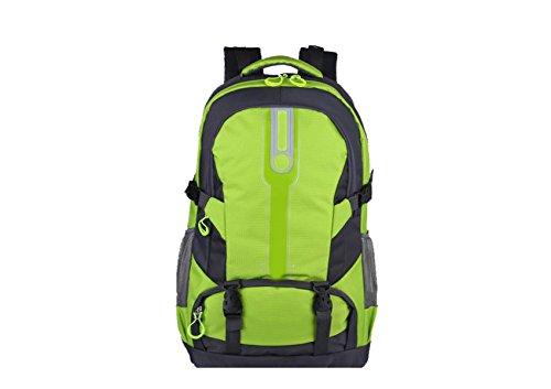 Yy.f Nuevos Bolsos De Montaña Manera Morral Al Aire Libre Bolsa De Viaje Ligero De Gran Capacidad A Pie Mochilas Mochila Multifuncional. Multicolor Green