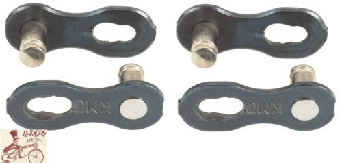 KMC Missing Link 6/7/8-Speed 7.3mm Bicycle Chain Links--2 in a (6/7/8 Speed Chain)
