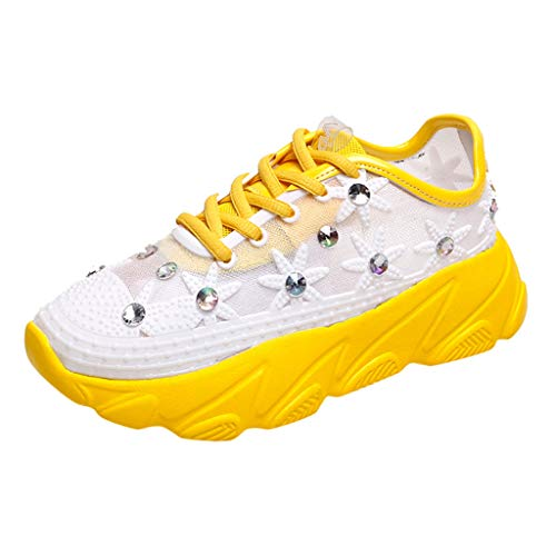 AOJIAN Shoes Sneakers Workout Sports Outdoor Fashion Rhinestone Mesh Breathable Running Shoes for Women