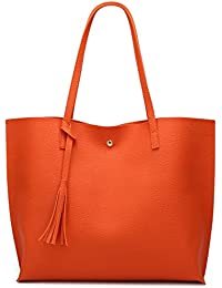 Women s Soft Leather Tote Shoulder Bag from Dreubea 1b16291fdb120
