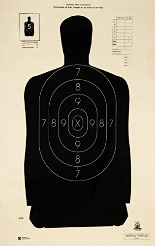 OFFICIAL NRA B-29 Shooting Target Police Silhouette (100x)