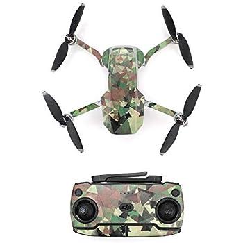 Green Penivo Mavic Mini Skin,Waterproof Scratch-Proof Decals PVC Stickers Compatible with DJI Mavic Mini Drone Remote Controller Protective Cover Accessories