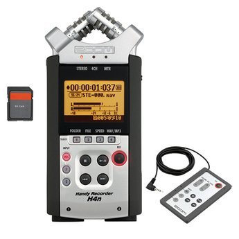 Zoom H4n Handy Mobile 4-Track Recorder - Bundle With Zoom RC-4 Remote Control