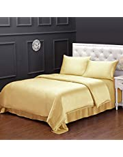 LilySilk 100% Pure Silk Duvet Cover 19 Momme Real 6A Grade Mulberry Silk Quilt Cover with Zipper