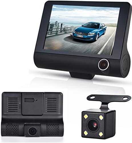 Three Shots Dual Lens 4″ HD 1080P Vehicle Car Dash Cam Rear Video Camera Recorder DVR