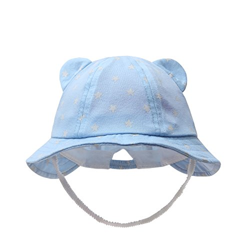 vivobiniya Newborn Boy Summer Hats Baby Sun Hats Little BearToddler Hat 0-12M (6-12M)