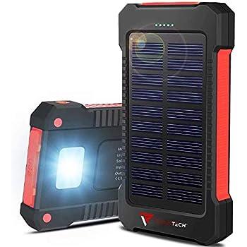 Amazon.com: Cargador solar de 22000 mAh, carga rápida ...