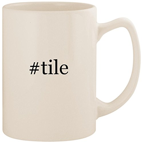 Crossville Ceramic Tile - #tile - White Hashtag 14oz Ceramic Statesman Coffee Mug Cup