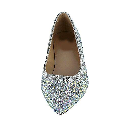 Elegant Flache Schuhe Schuhe Lacitena Kristall Bequeme RSqqtf