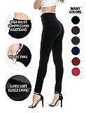 FOMANSH Fleece Lined Leggings for Women High Waisted Leggings Warm Slimming Elastic(One Size)