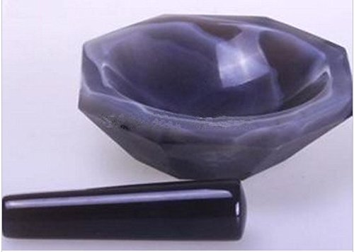GOWE 8CM Lab FIRST-GRADE AGATE Mortar and Pestle , carnelian ()