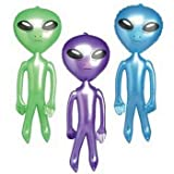 RI Novelty Inflatable 48 Inch Jumbo Alien - Assorted Blue, Green or Purple