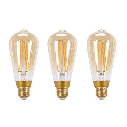 Globe Electric 31848 LED Vintage Edison 5W Light Bulb (3 ...