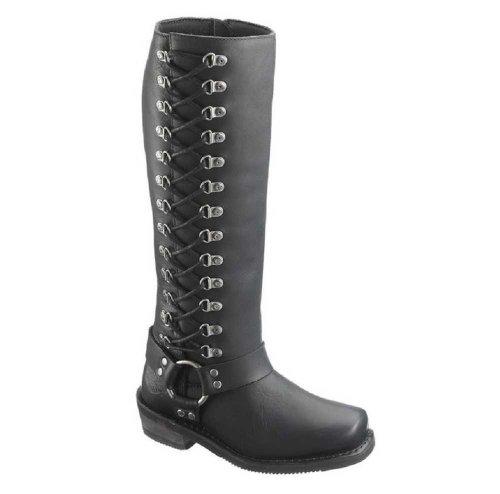 Harley-Davidson Women's Romy Inside Zip Boots. Shaft 14.5