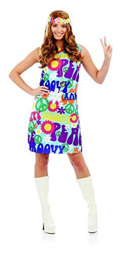 fun shack Women's, Groovy Hippie Dress Medium ()