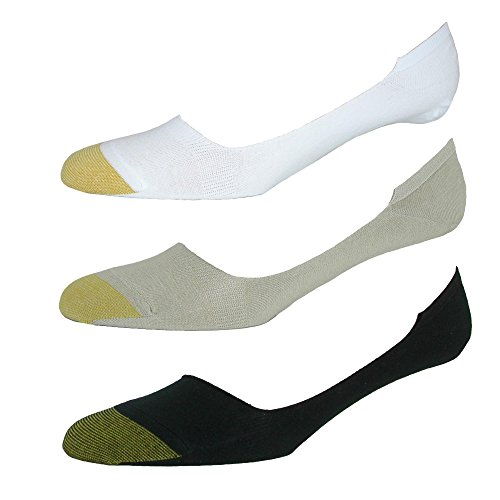 Gold Toe Men's Extended Size Loafer No Show Liner Socks (3 Pair Pack), Multi