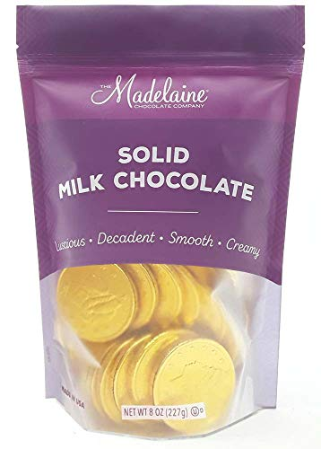 Madelaine Premium Milk Chocolate Gold Coins (Large Coins, 1/2 LB)
