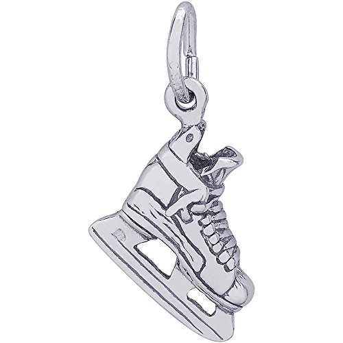 Ice Hockey Sports Charm (Rembrandt Charms Hockey Skate Charm, Sterling Silver)