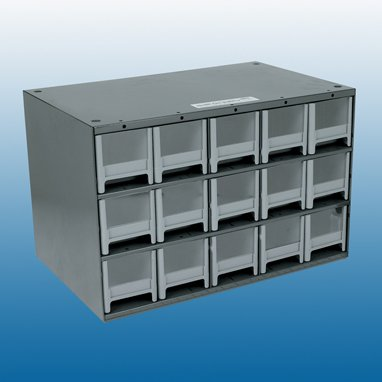 Health Care Logistics Cassette with Security Seal Holes, 15 Drawer