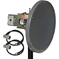 Altelix 5GHz 23dBi Dual Polarized 2x2 MIMO Dish Antenna for Ubiquiti RocketM5, Mimosa C5c, MikroTik BaseBox 5, Cambium ePMP