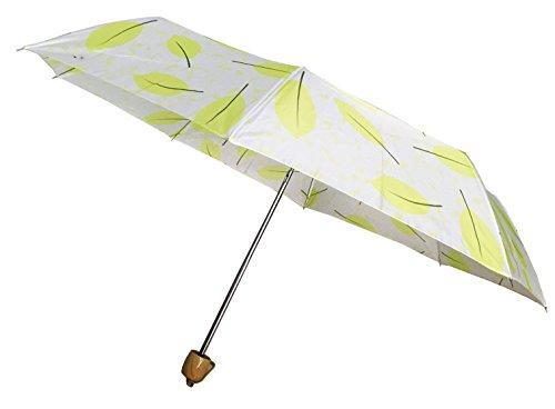 Cheap Compact Umbrella, Folding Umbrella, Mini Umbrella, Pocket Size Umbrella (Green Leaf)
