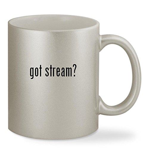 got stream? - 11oz Silver Sturdy Ceramic Coffee Cup Mug