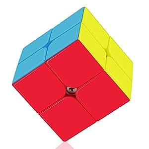 Roxenda Speed Cube Profession 2x2x2 Speed Cube - Torneado rápido y Suave - Helado sólido y sin Etiquetas, el Mejor Juguete mágico 3D Puzzle - Gira más rápido Que el Original