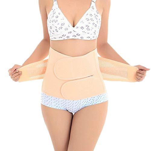 Trendyline Women Postpartum Girdle Corset Recovery Belly Band Wrap Belt,Large,Beige Nude Large