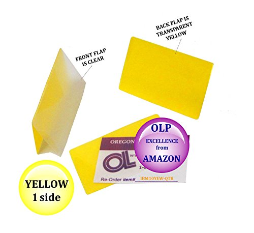 LAM-IT-ALL Hot Laminating Pouches IBM Card (pack of 25) 10 mil 2-5/16 x 3-1/4 Yellow/Clear by LAM-IT-ALL