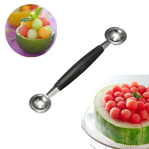 OPEEK Double-end Melon Mango Fruit Spoon Ice Cream Dessert Spoon
