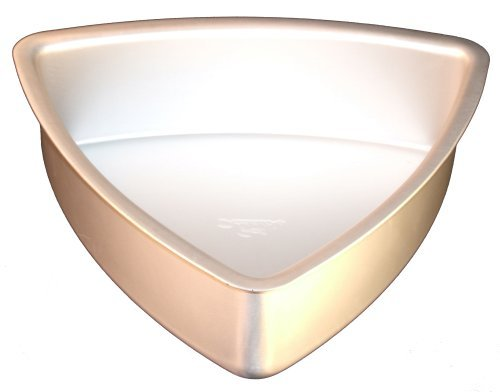 Fat Daddio's Anodized Aluminum Convex Triangle Cake Pan, 10 Inch by 2 Inch by Fat Daddios