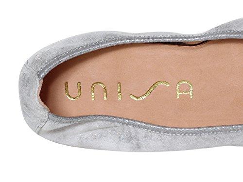 Unisa Acor Scarpe Ballerina Marbre Donna 2018 Estate Primavera Silver RxRrn1f