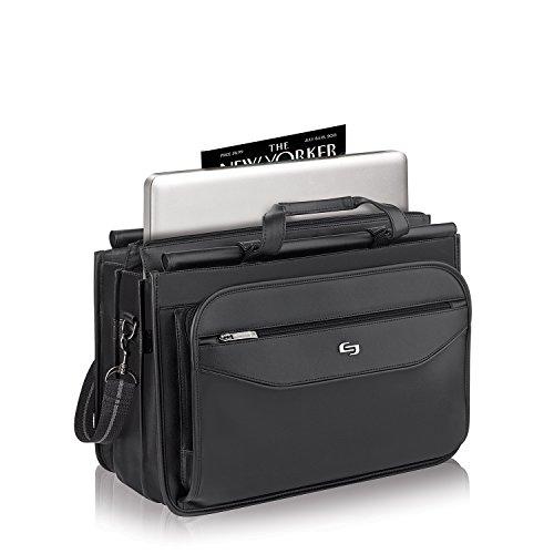 Solo Harrison 16 Inch Triple Compartment Laptop Briefcase, Black by SOLO (Image #2)