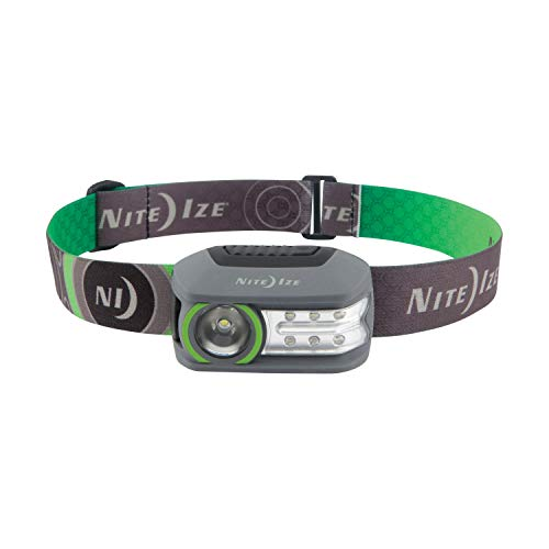 Nite Ize Radiant 250 Rechargeable Headlamp, 250 Lumen Headlight With USB Recharging Cord, Red + White LEDs, And Multiple Modes