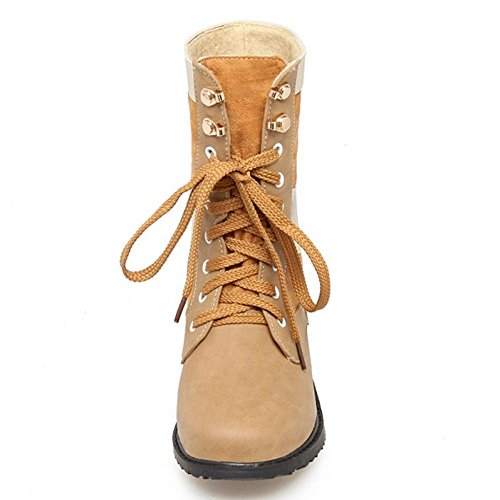 Boots Yellow KemeKiss Women Up 0 Lace Uq8vq